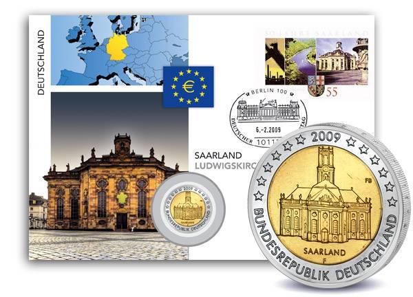 2 Euro Numisbrief BRD Ludwigskirche 2009 A prägefrisch