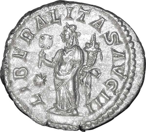 Denar Kaiser Elagabalus 218-222 n.Chr. Sehr schön