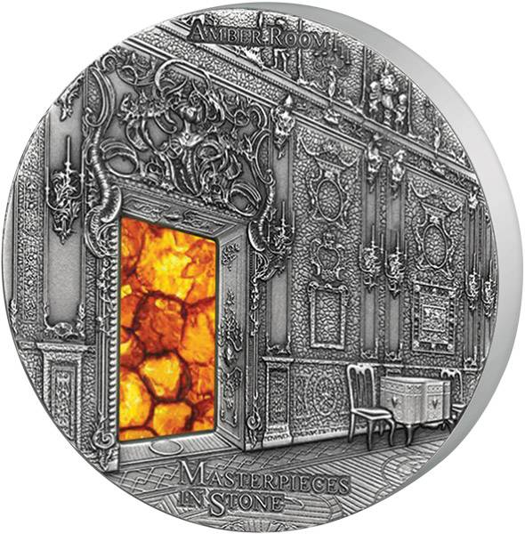 10 Dollars Fidschi Masterpieces in Stone Bernsteinzimmer 2015 Antik-Finish