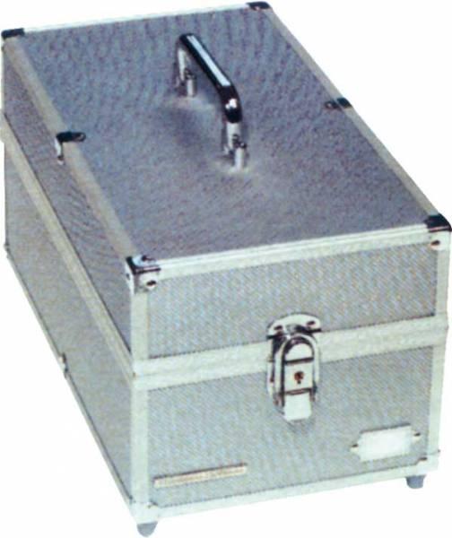 Stabiler Aluminium-Münzenkoffer