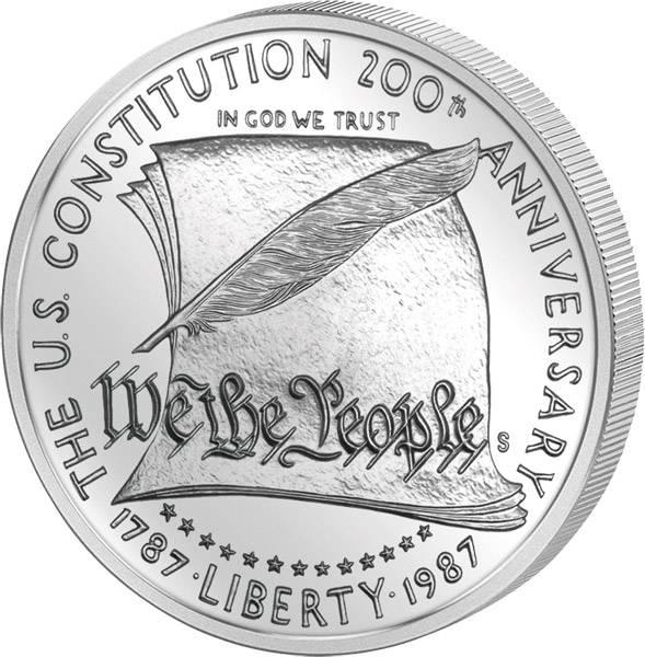1 Dollar USA 200 Jahre Verfassung 1987 Polierte Platte