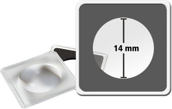 2er-Pack MAGNICAPS-Münzkapsel Durchmesser 14 mm