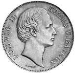 Taler Vereinsdoppeltaler Ludwig II 1865, 1867, 1869  vorzüglich