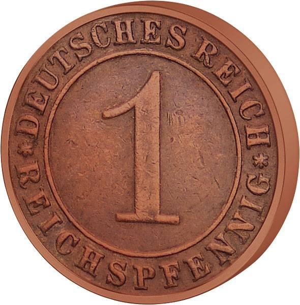1 Pfennig Weimarer Republik Ähren 1924-1936 ss-vz