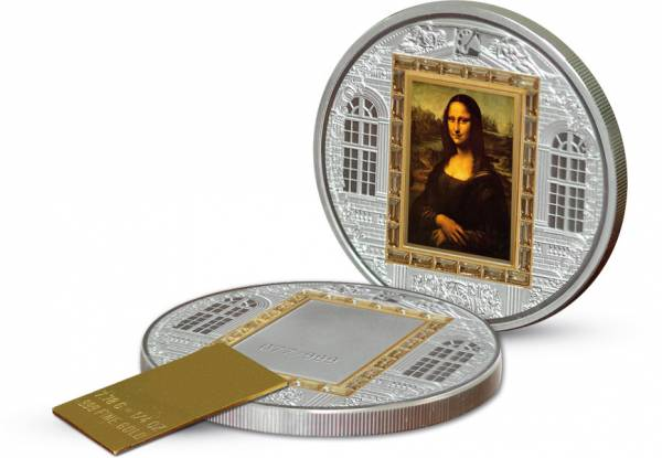 20 Dollars Cook Inseln Leonardo da Vinci Mona Lisa 2009 Polierte Platte