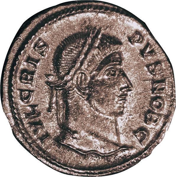 Mittelfollis  Rom Prinz Crispus 316-326 n .Chr.  prägefrisch