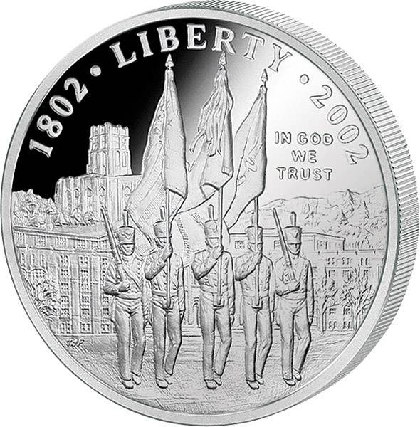 1 Dollar  USA 200 Jahre Militärakademie West Point 2002  Stempelglanz