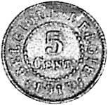5 Centimes Belgien Wappenlöwe 1915-1916 Sehr schön