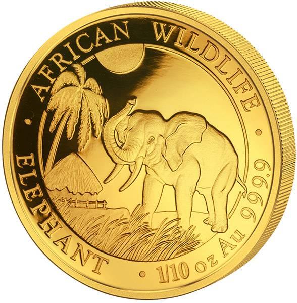 1/10 Unze Somalia Elefant 2017