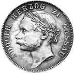 Vereinstaler Silber Nassau Herzog Adolph 1864 ss-vz