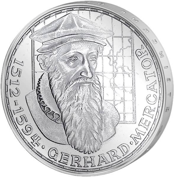5 DM Münze BRD Gerhard Mercator