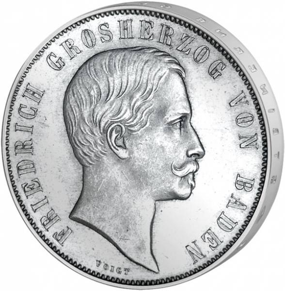 1 Gulden Baden 1. Badisches Landesschiessen 1863 Vorzüglich