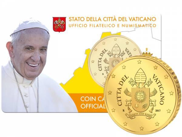 50 Cent Vatikan Papst Franziskus Coin Card 2017