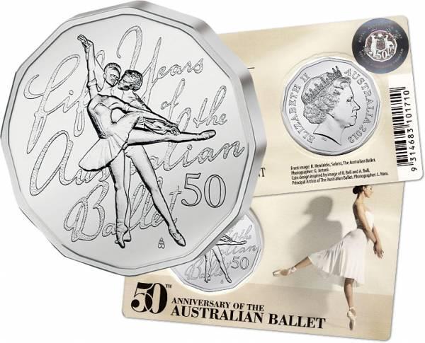 50 Cents  Australien Ballett  2012  Stempelglanz