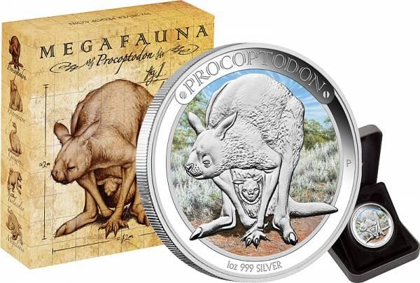 1 Dollar Australien Megafauna Procoptodon 2013 Polierte Platte