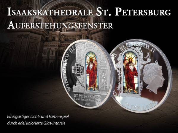 10 Dollars Cook Inseln Isaakskathedrale Auferstehungsfenster 2012 Proof Like