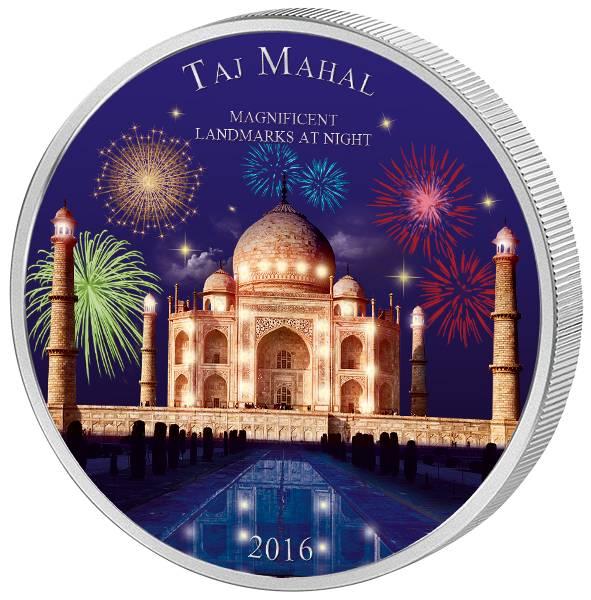 2.000 Francs CFA Elfenbeinküste Magnificent Landmarks at Night Taj Mahal 2016
