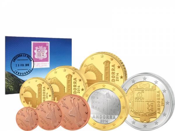 Euro-Kursmünzensatz Andorra 2014