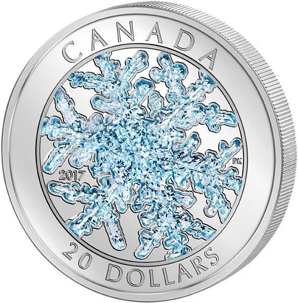 20 Dollars Kanada Schneeflocke