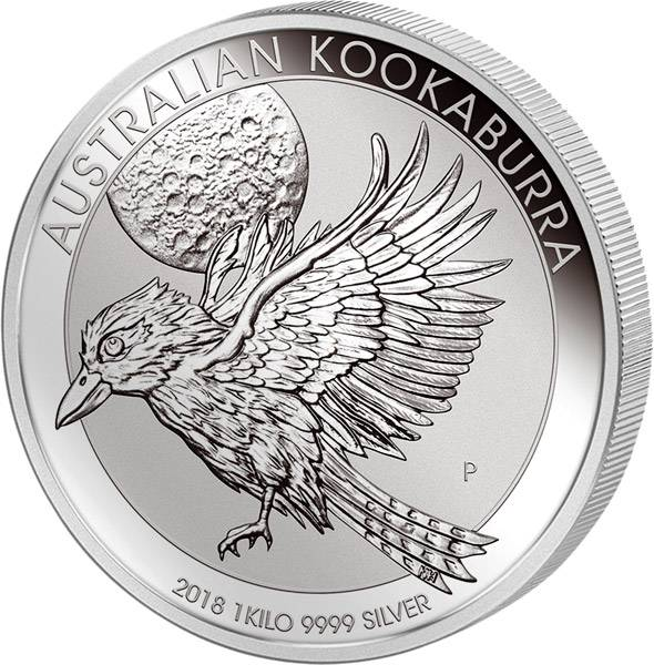 1 Kilo Silber Australien Kookaburra 2018
