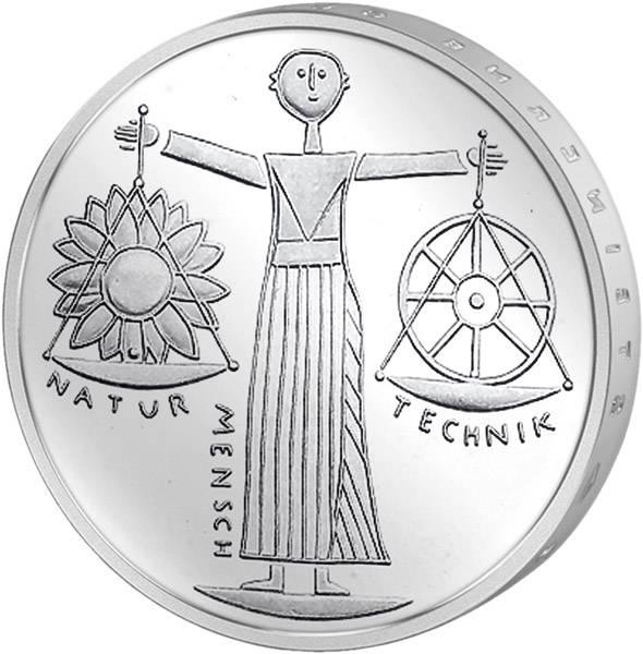 10 DM Münze Silber EXPO 2000 Hannover vorzüglich