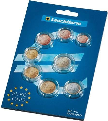 Münzkapseln 1 Cent-2 Euro Münzkapseln für kompletten Euro-Kursmünzensatz