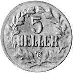 5 Heller Deutsch Ostafrika Deutsche Kaiserkrone (Tabora) 1916 T Sehr schön