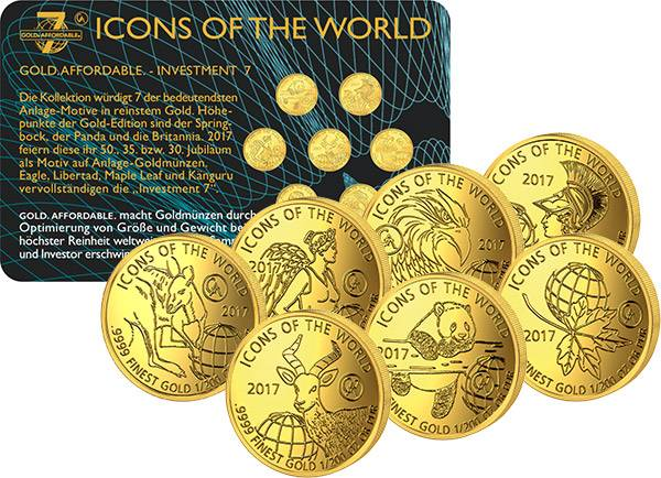 7 x 10 Francs Ruanda Icons of the World 2017