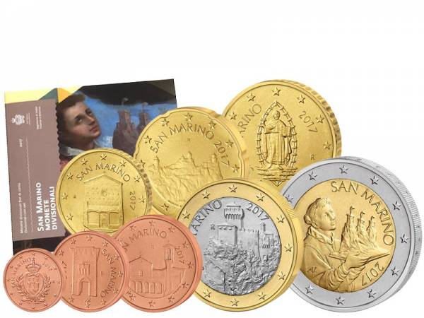 Euro-Kursmünzensatz San Marino 2017