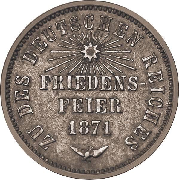 1 Kreuzer Friedensfeier Scheidemünze 1871 ss-vz