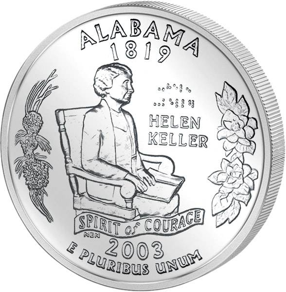 Quarter Dollar USA Alabama 2003