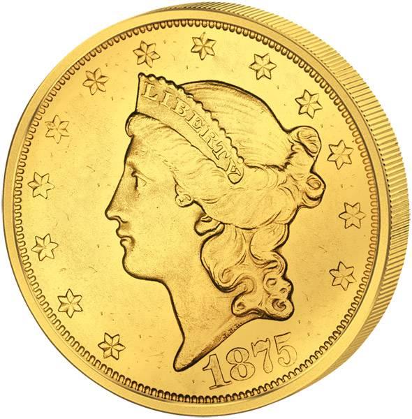 20 Dollars USA Liberty-Kopf 1849-1907 ss-vz