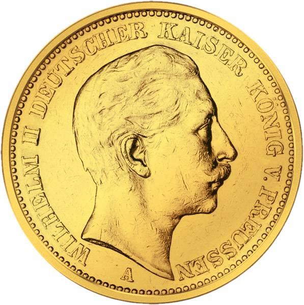 20 Mark Preußen Wilhelm II. 1888-1889 Sehr schön