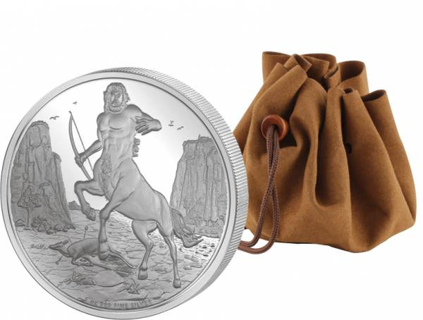 2 Dollars Niue Griechische Mythologie Centaurus