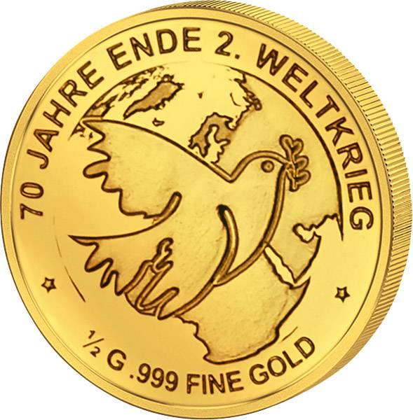 3.000 Francs Tschad 70 Jahre Ende 2. Weltkrieg 2015   Polierte Platte