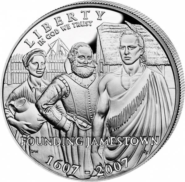 1 Dollar USA 400 Jahre Jamestown