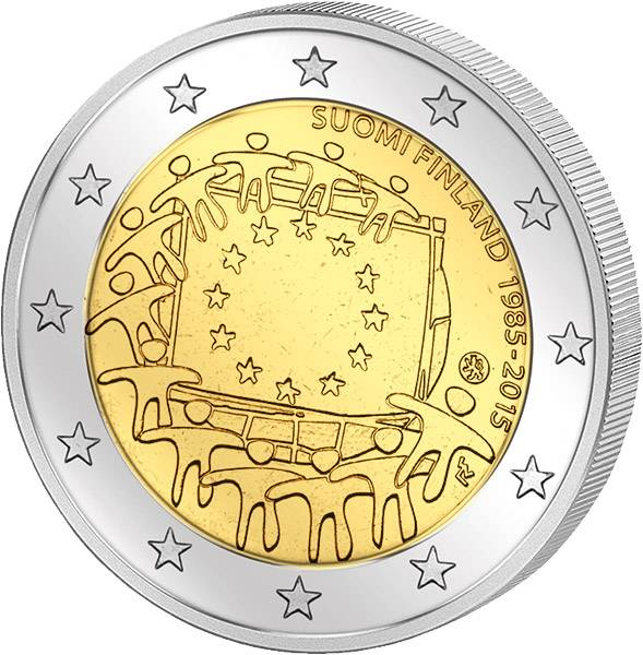 2 Euro 30 Jahre Europaflagge Gemeinschaftsausgabe aller Länder