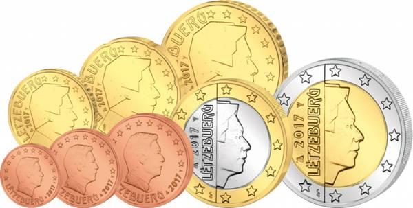Euro-Kursmünzensatz Luxemburg 2017