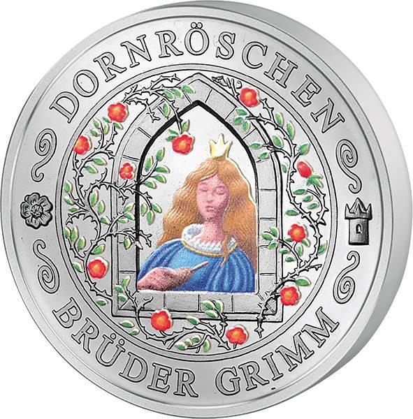 Gedenkprägung Dornröschen Polierte Platte