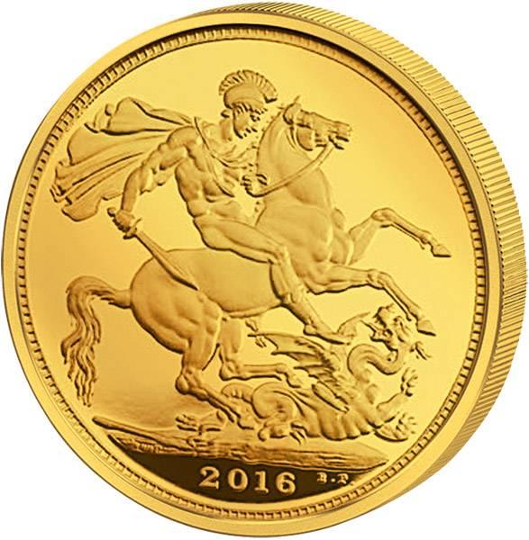 1 Sovereign Großbritannien Queen Elizabeth II. 2016 Stempelglanz