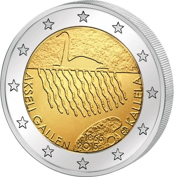 2 Euro Finnland 150. Geburtstag von Akseli Gallen-Kallela 2015 prägefrisch