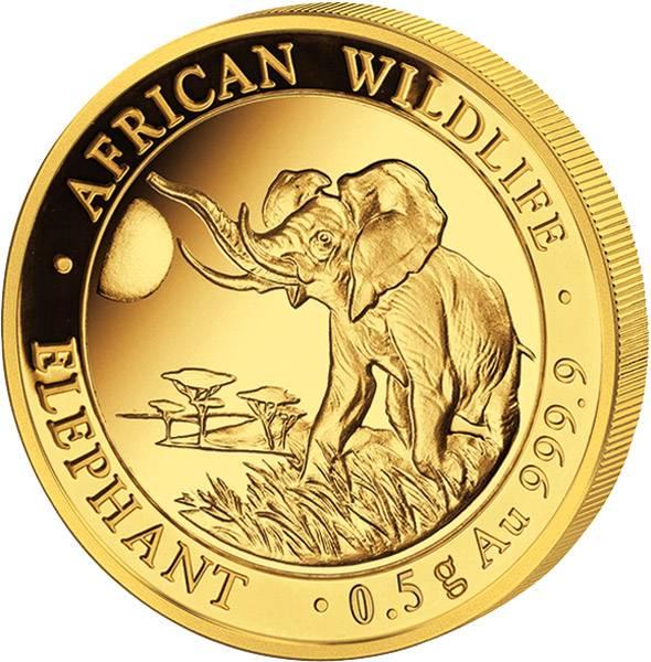 20 Shillings Somalia Elefant 2016 Polierte Platte (PP)