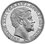 Taler Vereinstaler Heinrich XXII. 1868 ss-vz