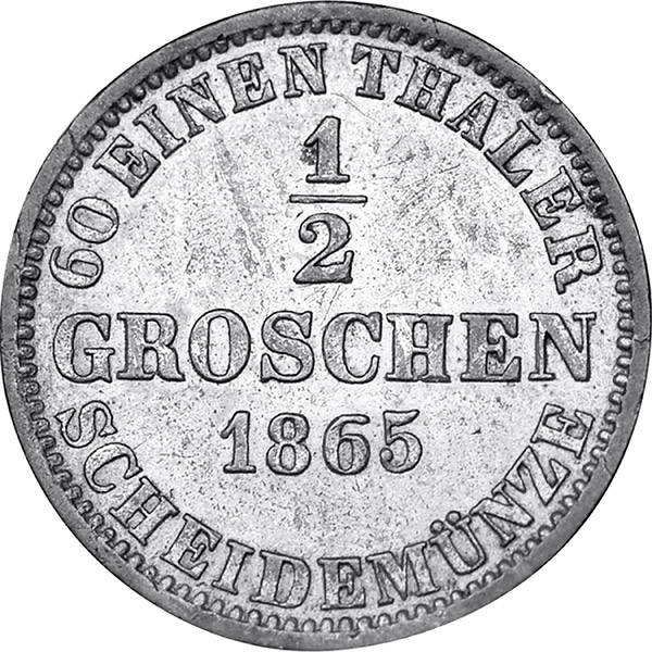 1/2 Groschen + 2 Pfennig Hannover König Georg V.