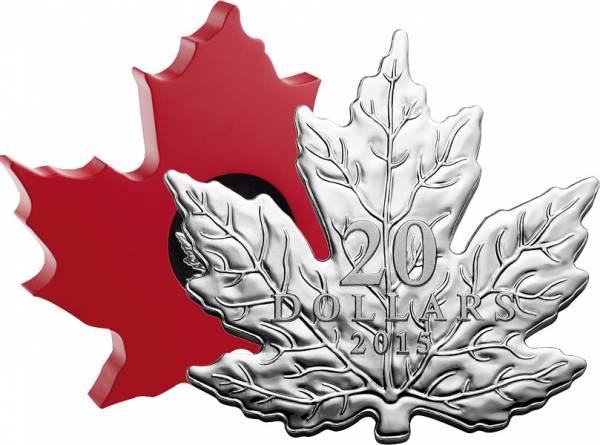 20 Dollars Kanada Cut-Out Maple Leaf 2015