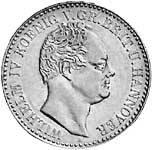 Taler Hannover Wilhelm IV. Silber 1836 ss-vz