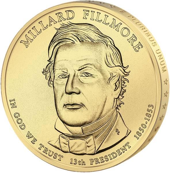 1 Dollar USA Millard Fillmore 2010 Stempelglanz