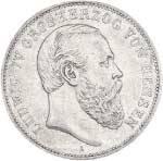 5 Mark Hessen Darmstadt Ludwig IV. 1891 s-ss