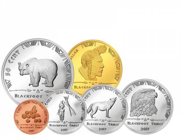1 Cent - 1 Dollar USA Kursmünzen der Blackfoot 2017