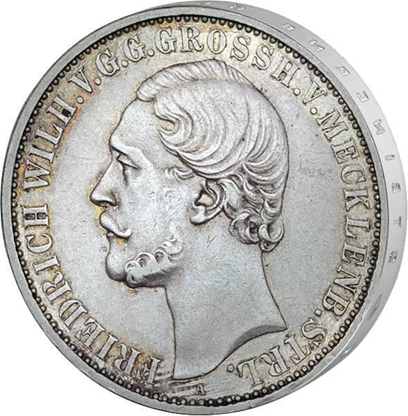 Vereinstaler Mecklenburg-Strelitz Großherzog Friedrich